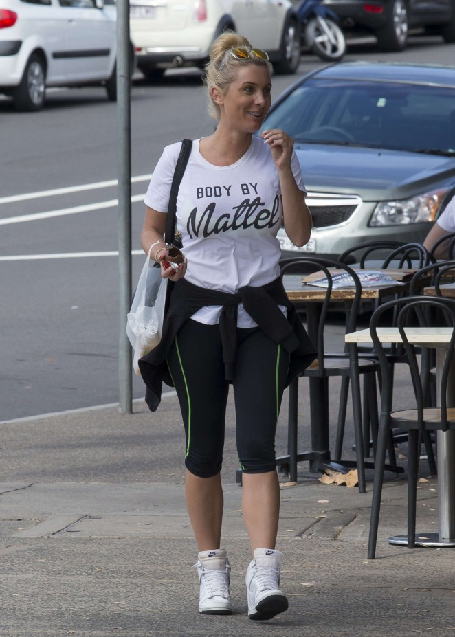 Zilda Williams in Tights Shopping in Bondi