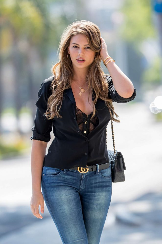 Zita Vass in Jeans out in Los Angeles