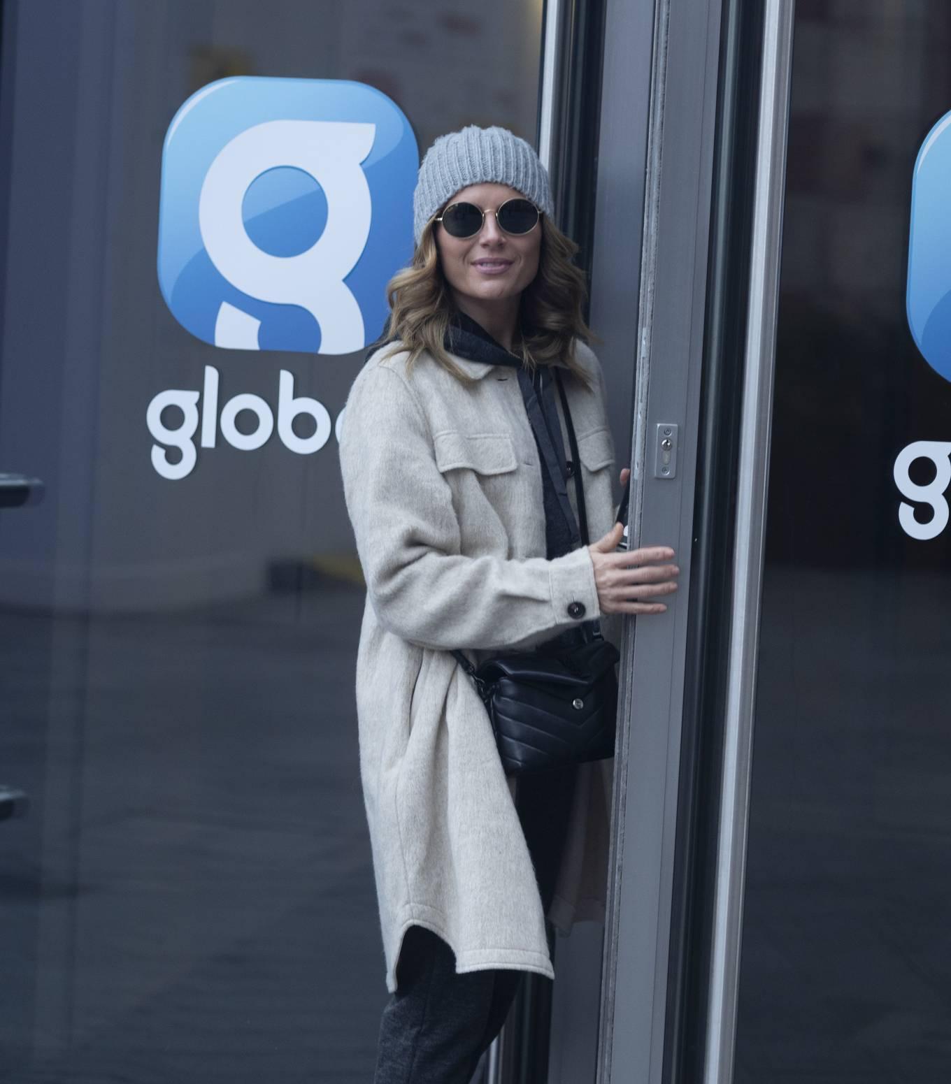 Zoe Hardman - arriving at Global Radio Studios in London
