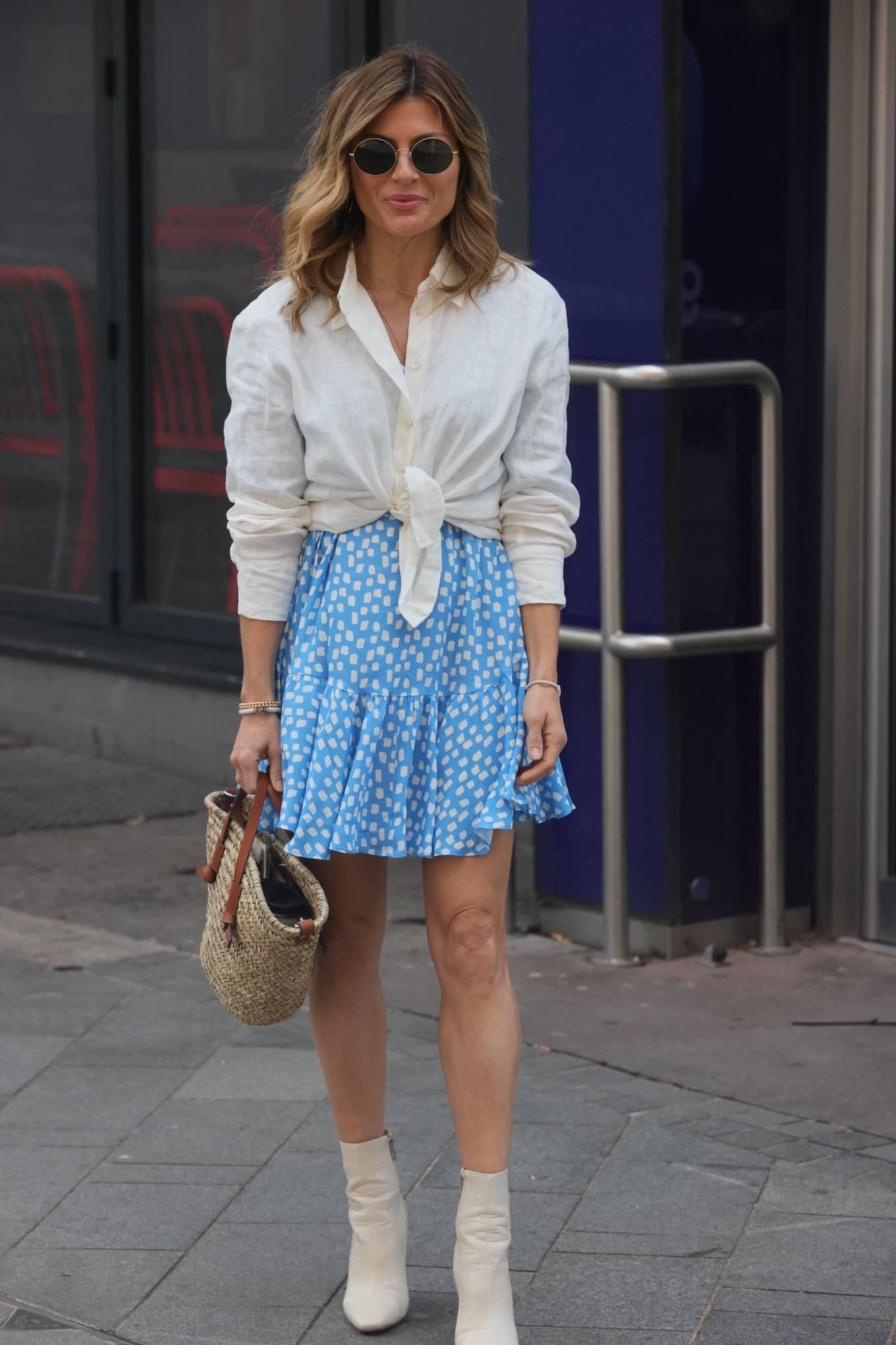 Zoe Hardma 2021 : Zoe Hardman- In a mini skirt at heart Radio in London-03