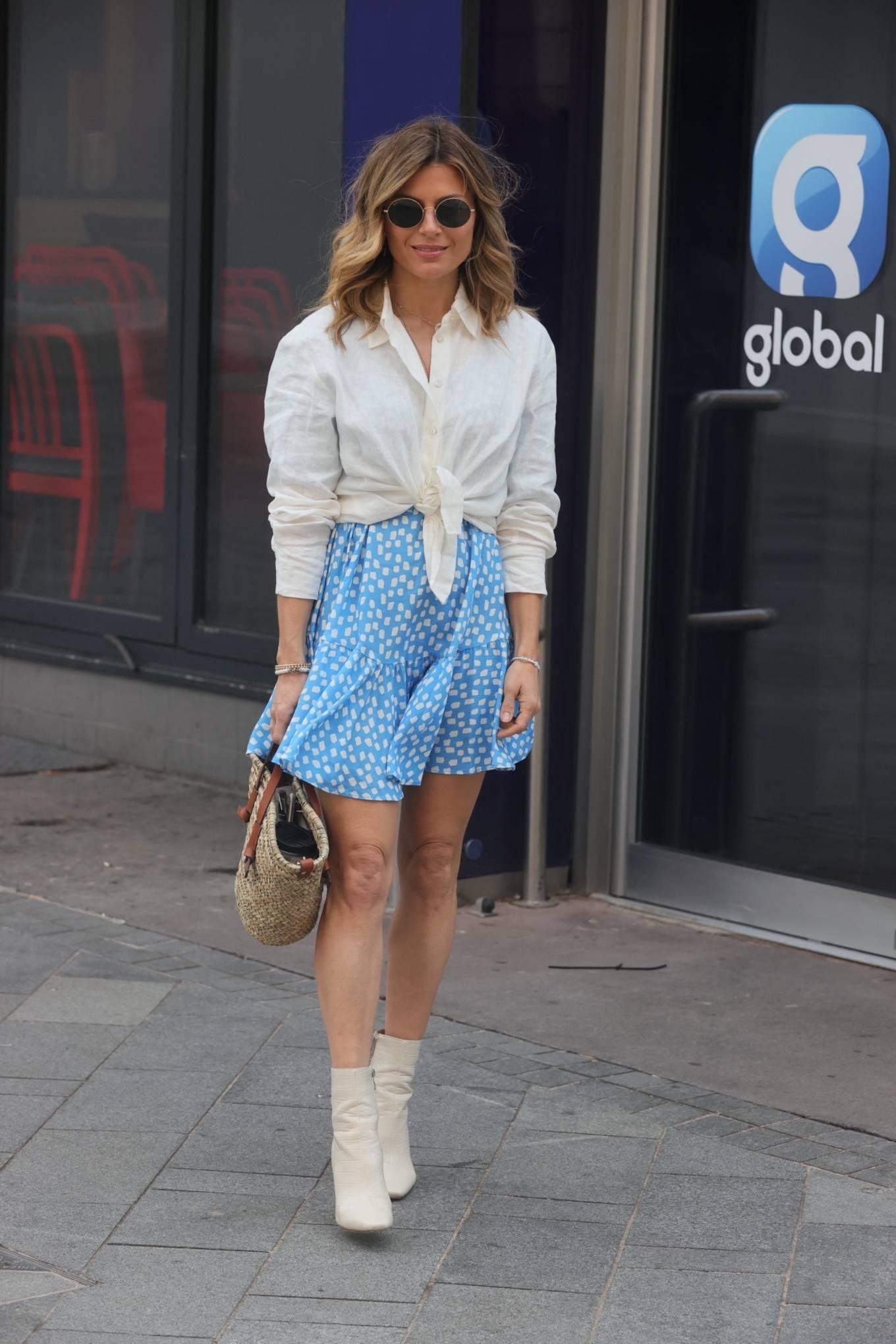 Zoe Hardma 2021 : Zoe Hardman- In a mini skirt at heart Radio in London-04