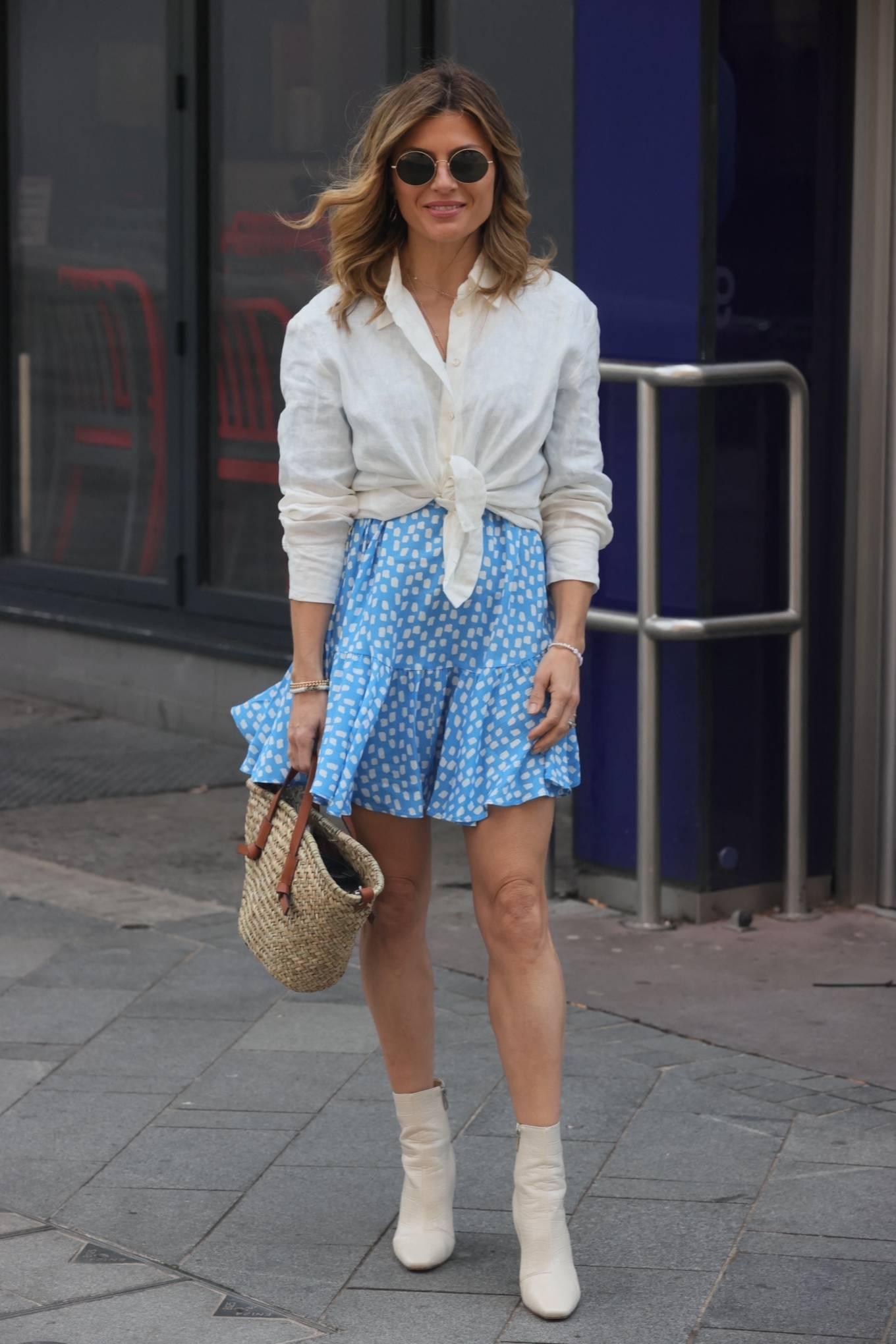 Zoe Hardman- In a mini skirt at heart Radio in London
