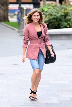 Zoe Hardman - Seen arriving at Global Radio in London