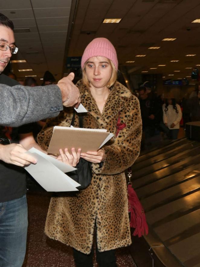 Zoe Kazan - Arriving at SLC Airport for Sundance Film Festival