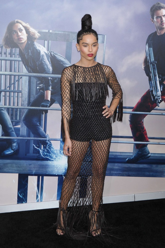 Zoe Kravitz - 'Allegiant' Premiere in New York