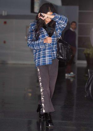 Zoe Kravitz - Arrives at JFK airport in NYC
