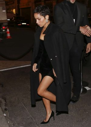 Zoe Kravitz - Arrives at the Beauty Hotel in Paris