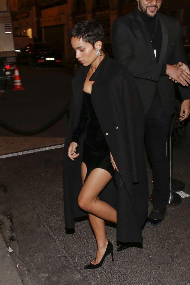 Zoe Kravitz - Arrives at the Beauty Hotel in Paris