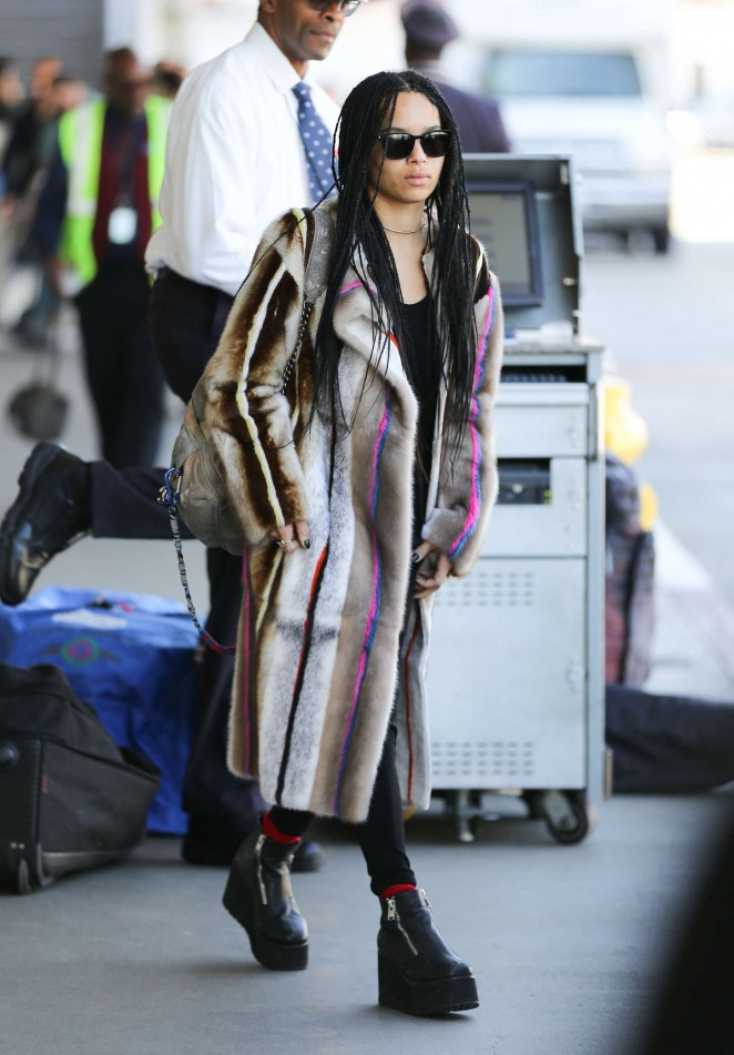Zoe Kravitz at LAX airport in LA