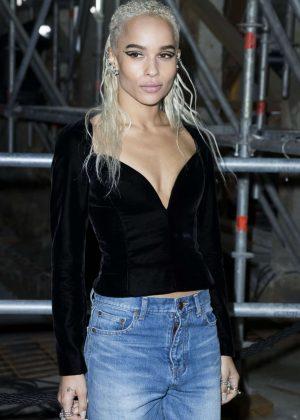 Zoe Kravitz at Saint Laurent Show at 2017 PFW in Paris