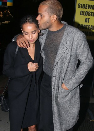 Zoe Kravitz at the Chateau Marmont in Hollywood