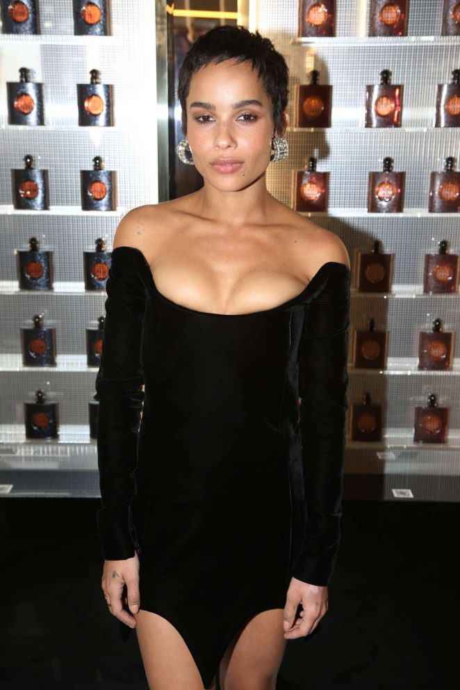 Zoe Kravitz at Yves Saint Laurent night in Paris