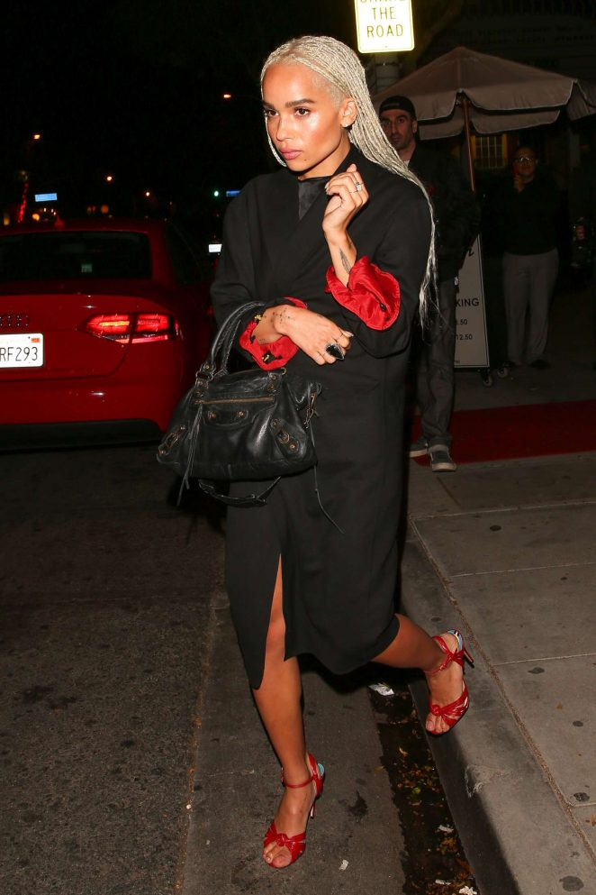 Zoe Kravitz - Leaving Drake's 30th birthday Celebration in West Hollywood