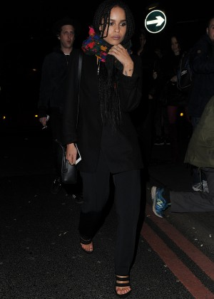Zoe Kravitz Night Out in London