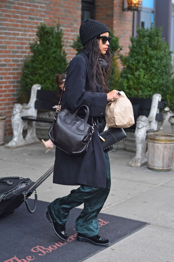 Zoe Kravitz out in Manhattan