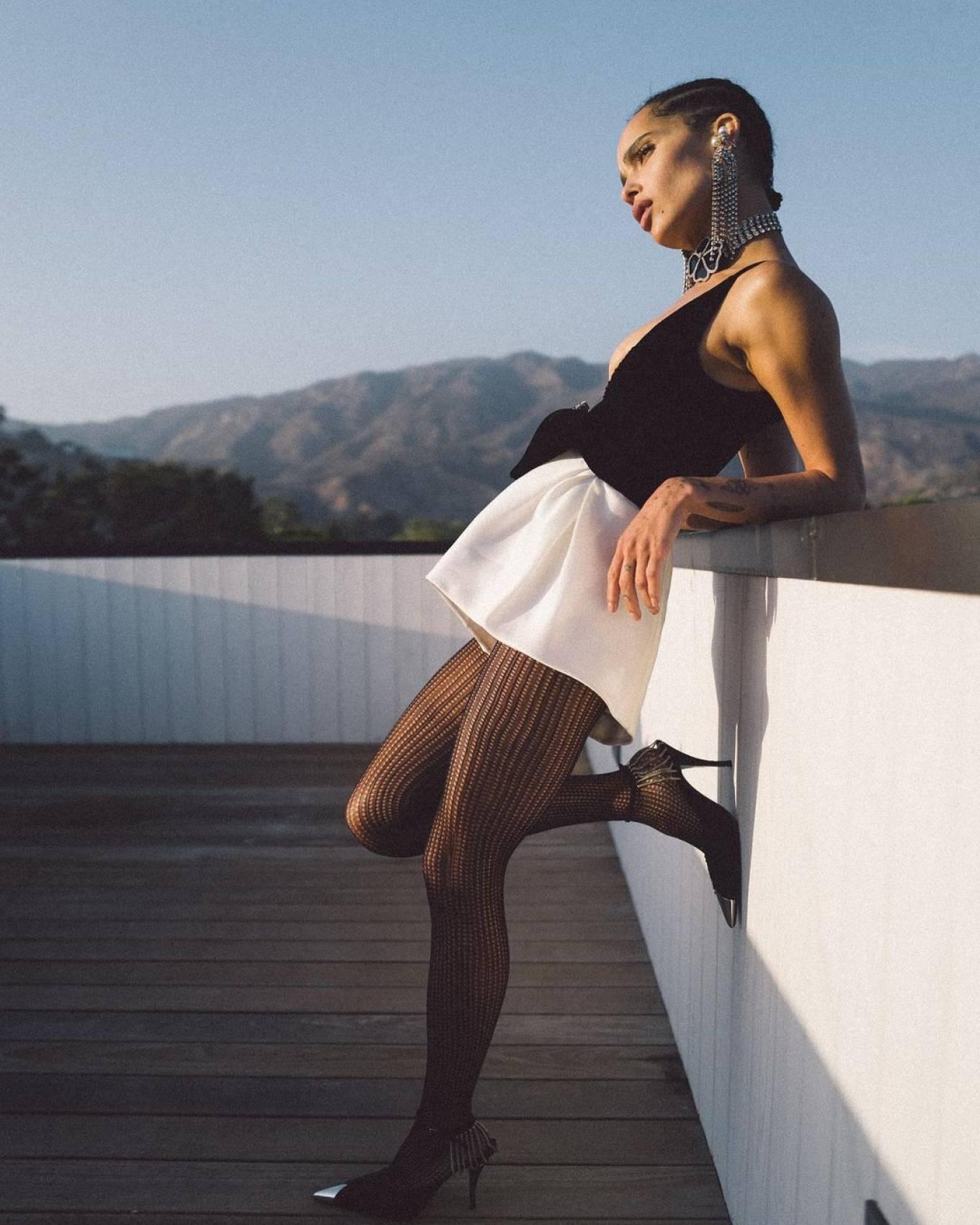 Zoe Kravitz 2021 : Zoe Kravitz – Saint Laurent Women's Winter 2021 virtual fashion show-02