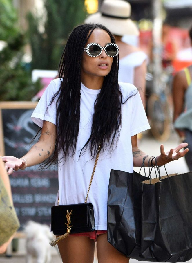 Zoe Kravitz Shopping in New York City