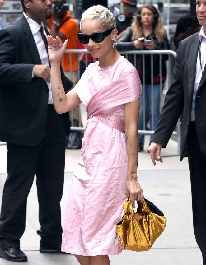 Zoe Kravitz visits 'Good Morning America' in New York City