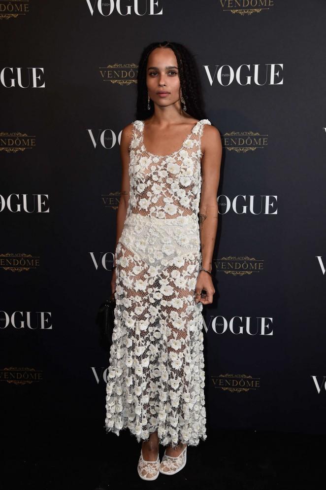 Zoe Kravitz - Vogue 95th Anniversary Party in Paris