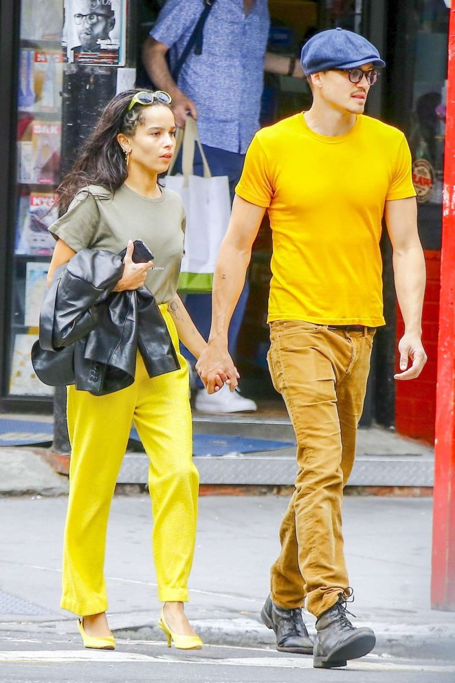 Zoe Kravitz - With boyfriend out in Soho