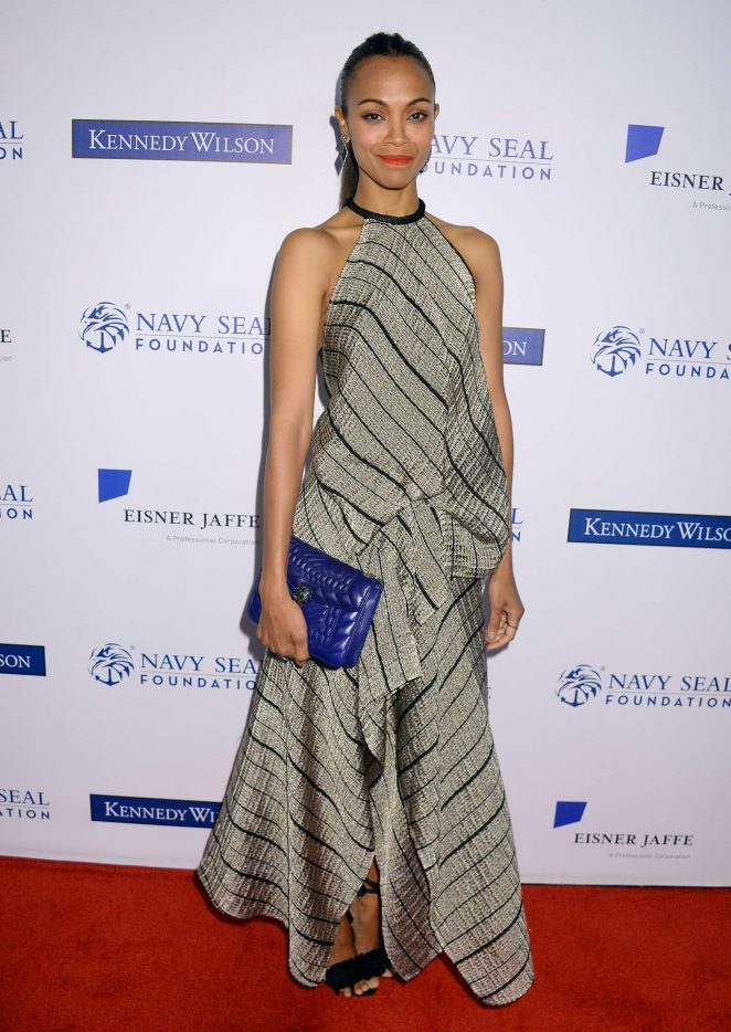 Zoe Saldana at Navy SEAL Foundation Patriot Award in Los Angeles