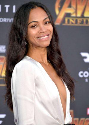 Zoe Saldana - 'Avengers: Infinity War' Premiere in Los Angeles