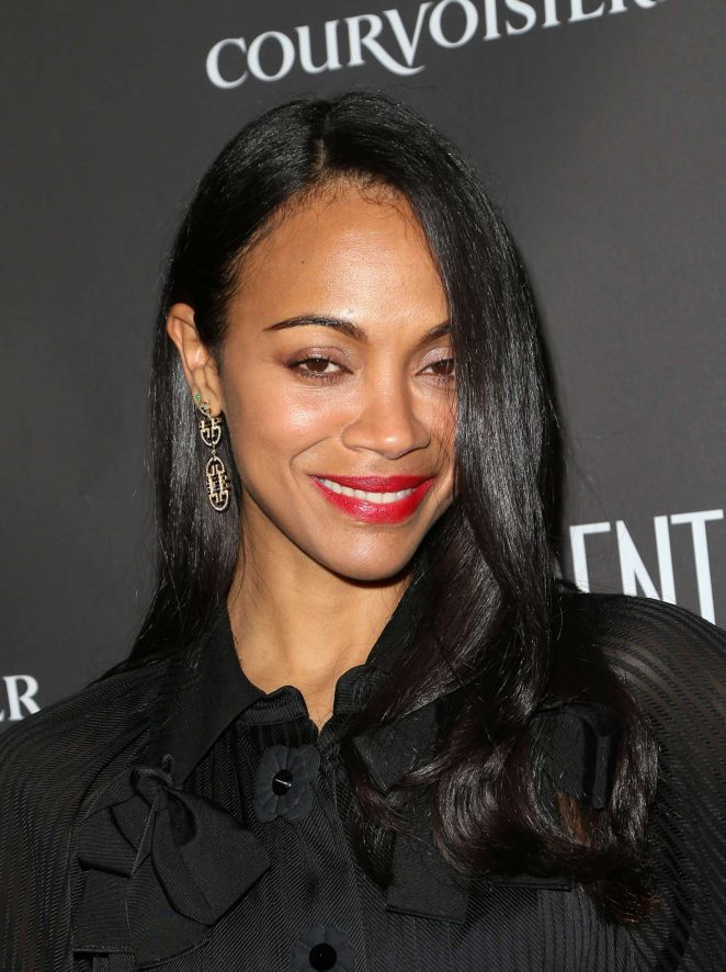 Zoe Saldana - Confidential Celebrates Winter Issue With Cover Star Zoe Saldana in LA