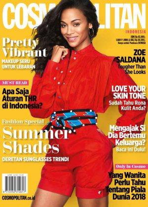 Zoe Saldana - Cosmopolitan Indonesia Cover (June 2018)