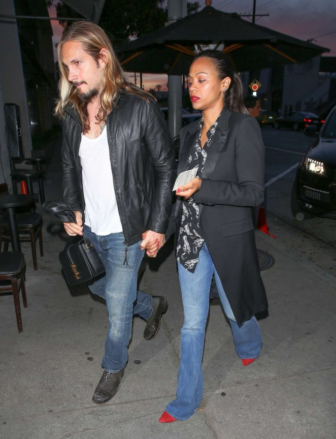 Zoe Saldana - Craig's Restaurant in West Hollywood