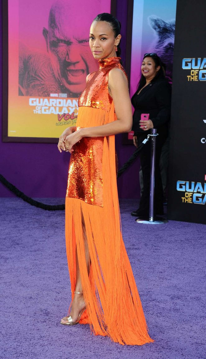 Zoe Saldana - 'Guardians of the Galaxy Vol. 2' Premiere in LA