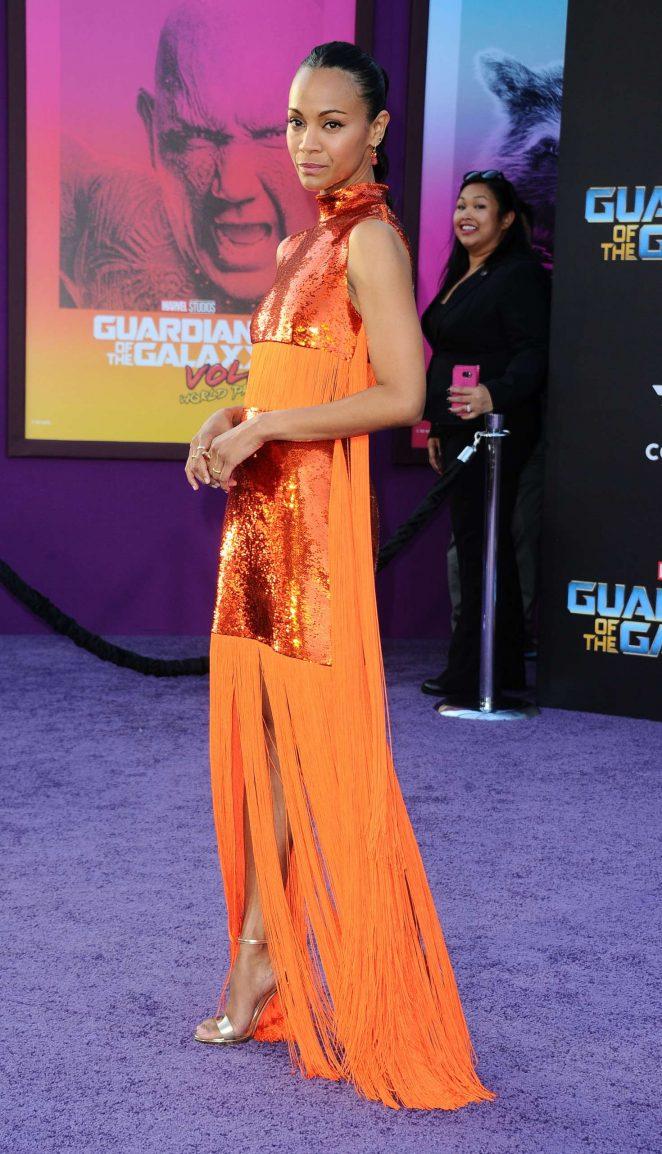 Zoe Saldana - 'Guardians of the Galaxy Vol. 2' Premierein LA