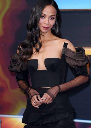 Zoe Saldana - 'Guardians of the Galaxy Vol.2' Premiere in London