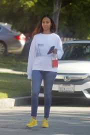 Zoe Saldana in Spandex - Out in Beverly Hills