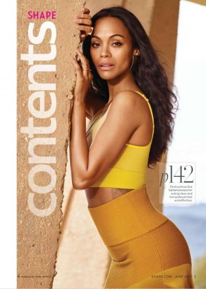 Zoe Saldana - Shape Magazine (June 2017)
