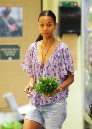 Zoe Saldana - Shopping in Beverly Hills