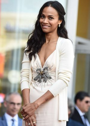 Zoe Saldana - Star on the Hollywood Walk of Fame in Los Angeles