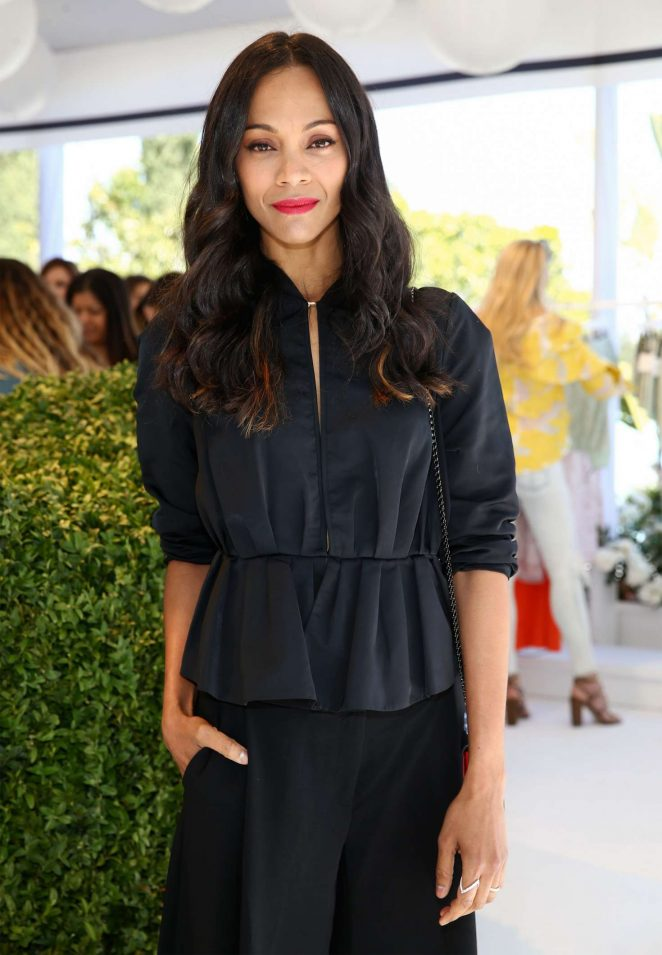 Zoe Saldana - 'Victoria Beckham for Target' Garden Party in Los Angeles
