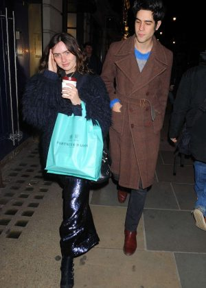 Zoe Sidel and Thomas Cohen out in London