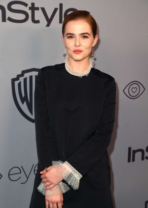 Zoey Deutch - 2018 InStyle and Warner Bros Golden Globes After Party in LA