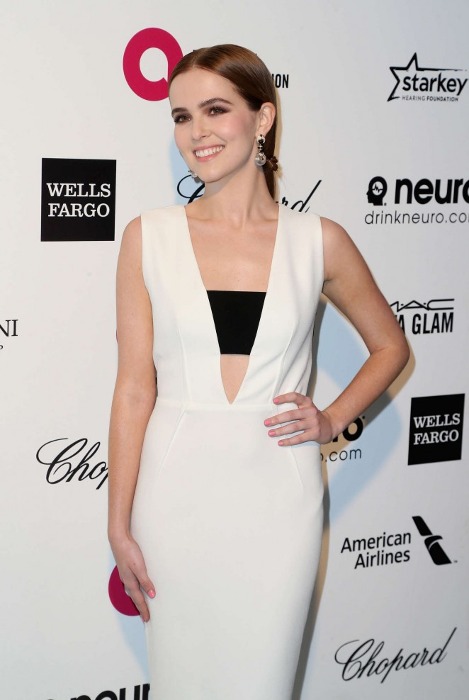 Zoey Deutch - Oscars 2015 - Elton John AIDS Foundation Academy Awards Party