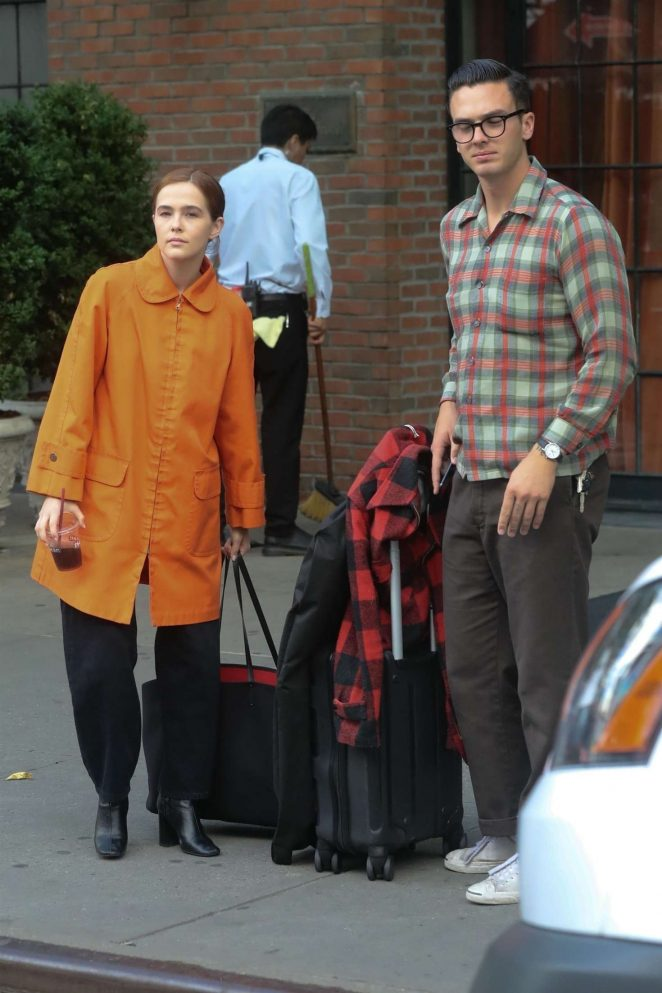 Zoey Deutch and her boyfriend Dylan Hayes - Leaving Bowery Hotel in New York
