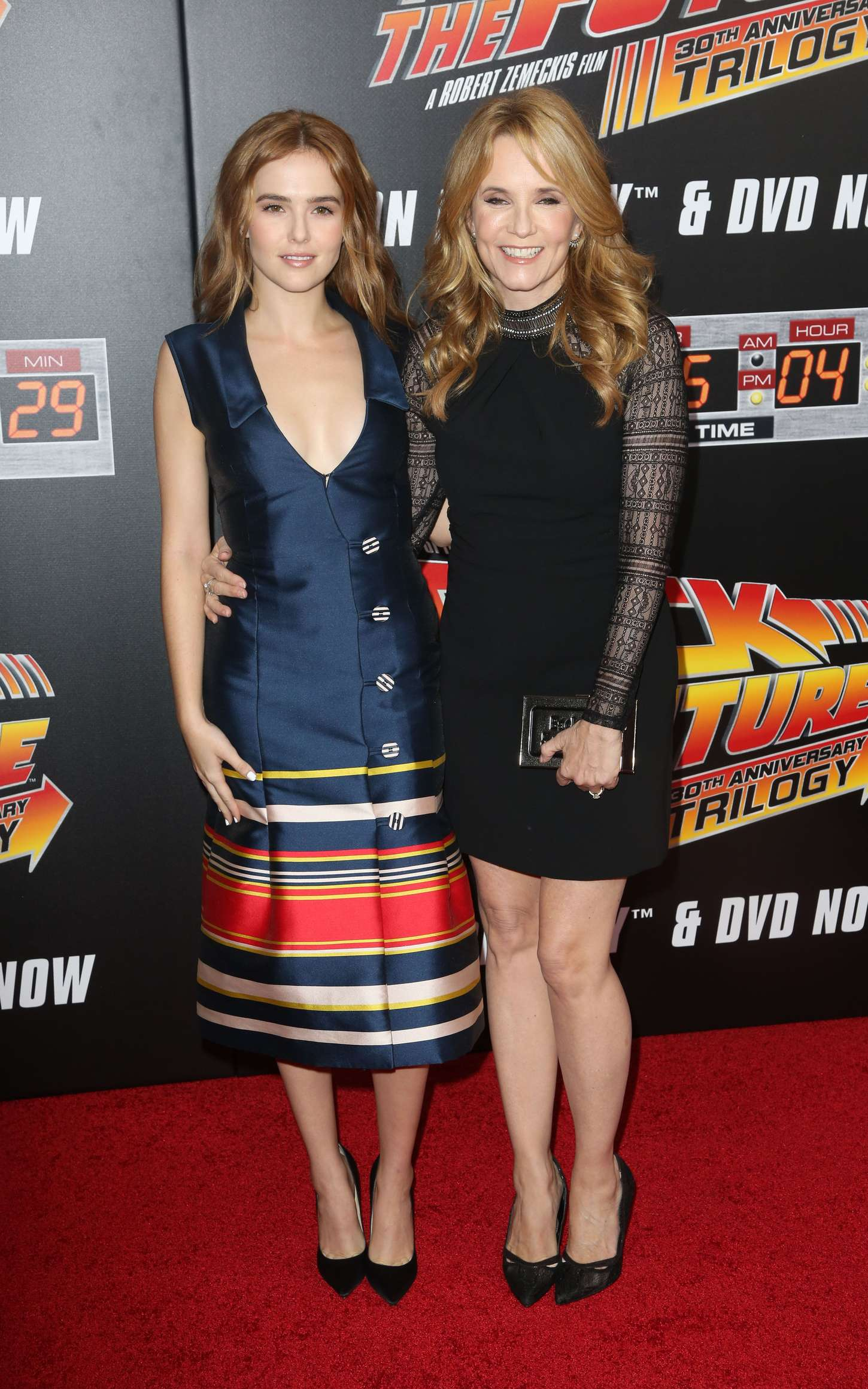 Zoey Deutch 2015 : Zoey Deutch and Lea Thompson: Back To The Future NY Screening -01