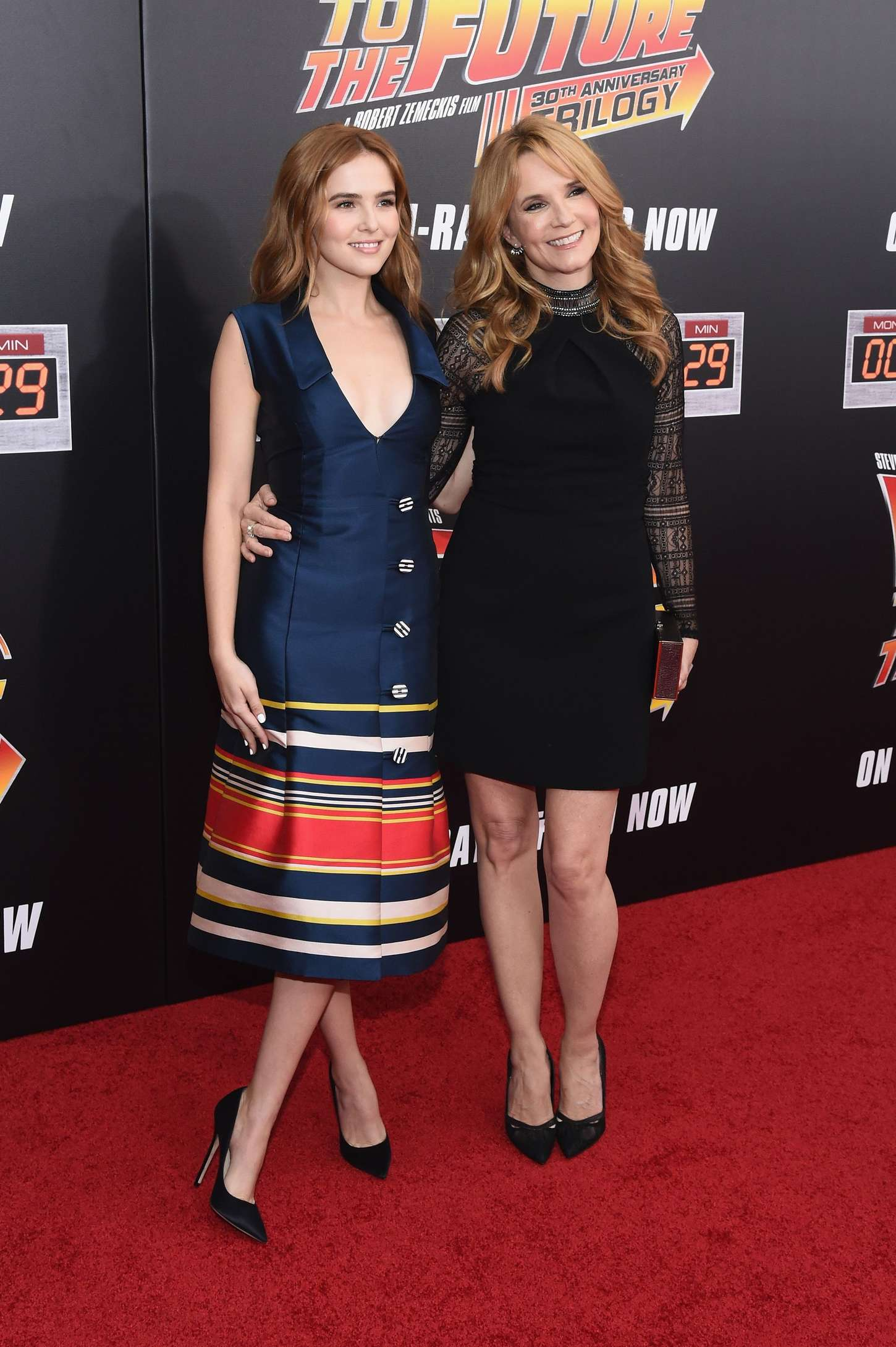 Zoey Deutch 2015 : Zoey Deutch and Lea Thompson: Back To The Future NY Screening -03