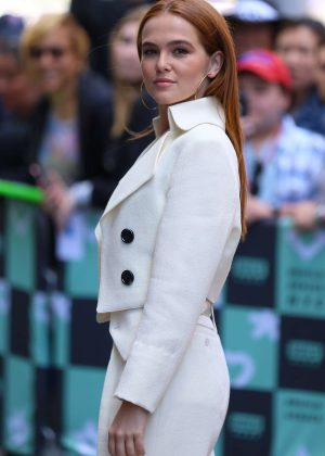 Zoey Deutch - Arrives at AOL Build Series in New York