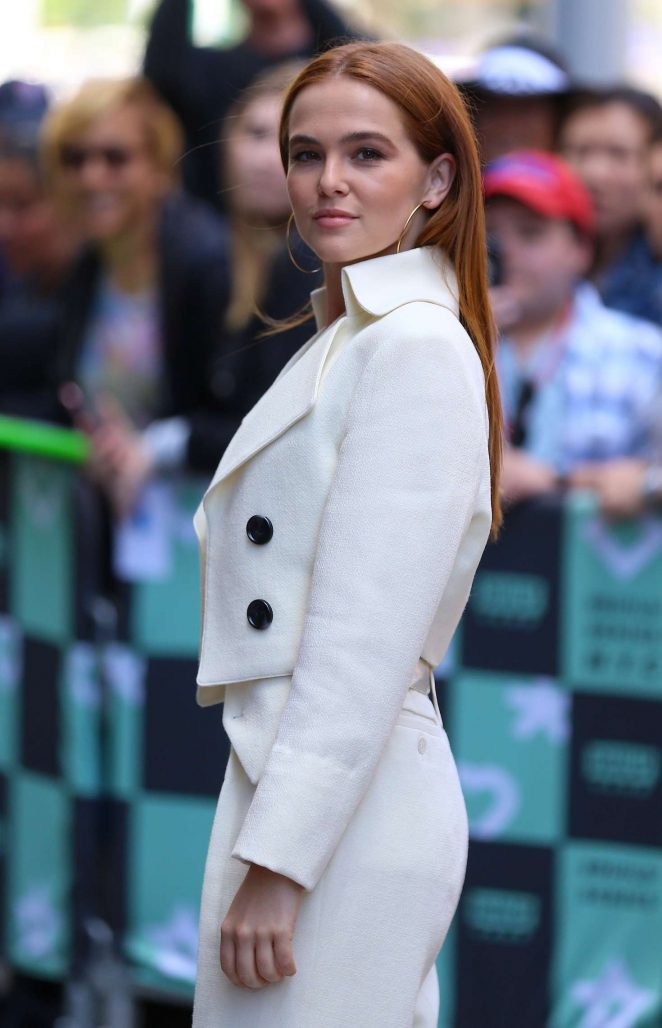 Zoey Deutch – Arrives at AOL Build Series in New York