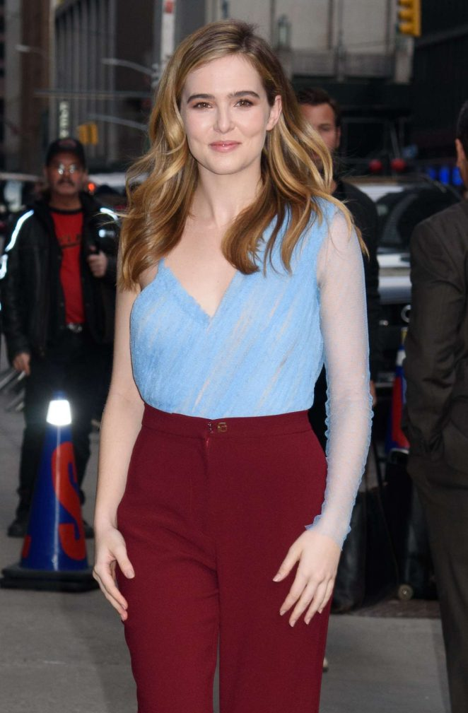 Zoey Deutch - Arrives to 'The Late Show With Stephen Colbert' in NY