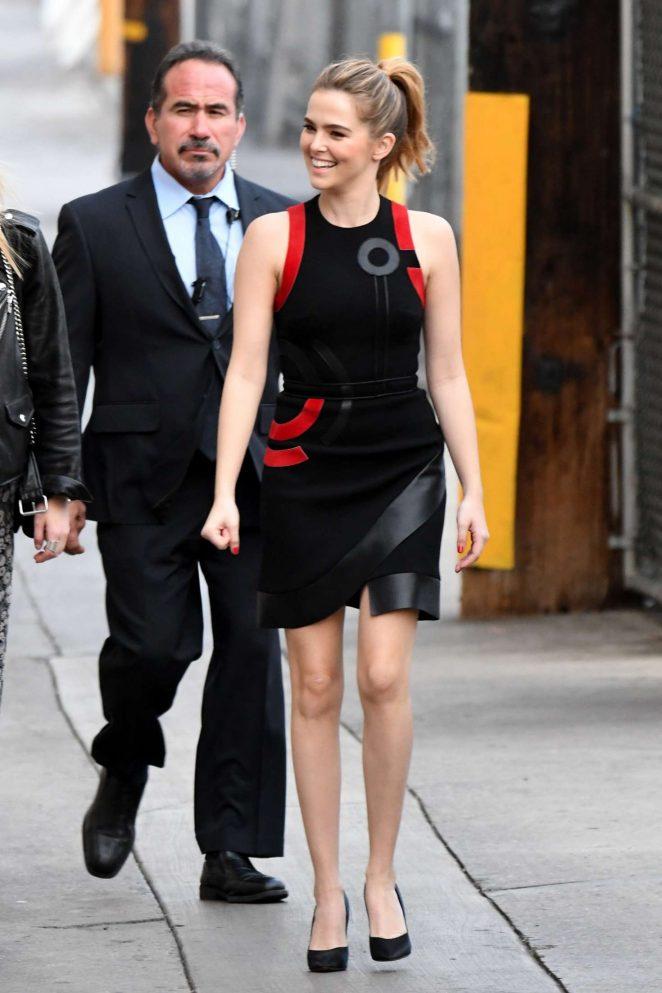 Zoey Deutch: Arriving at Jimmy Kimmel Live -29