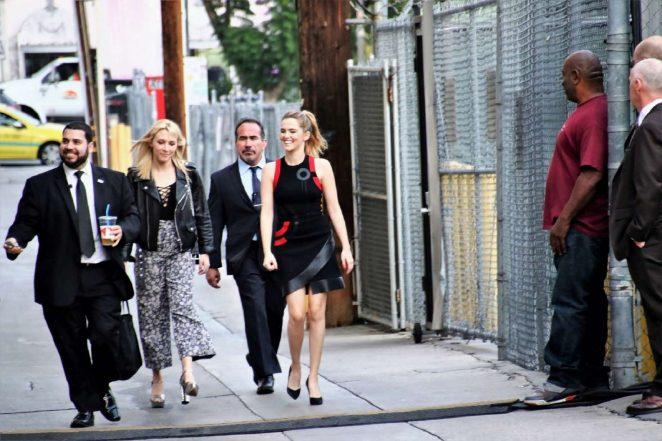 Zoey Deutch: Arriving at Jimmy Kimmel Live -30