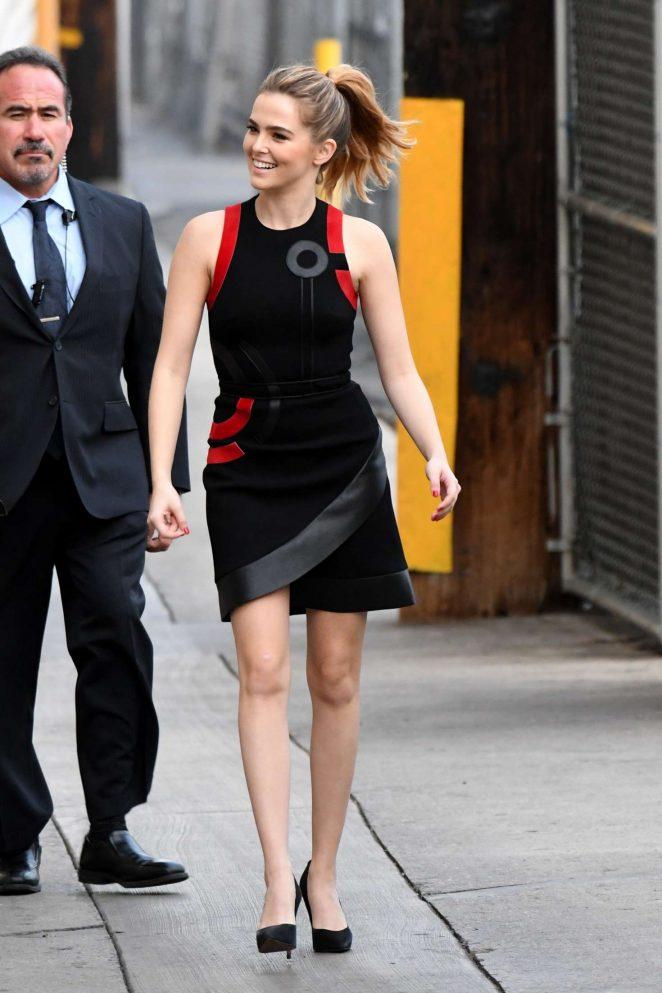 Zoey Deutch: Arriving at Jimmy Kimmel Live -44