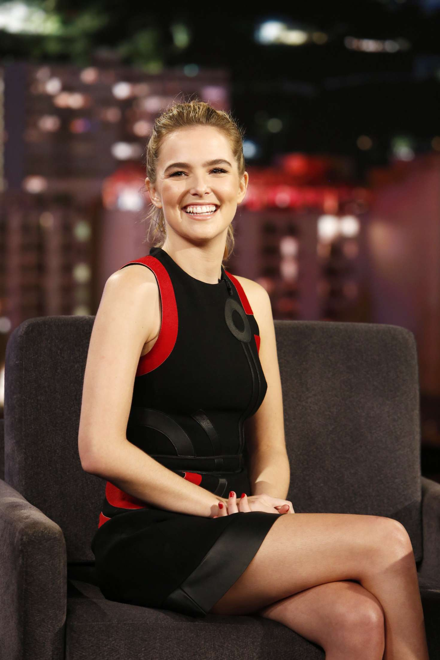 Zoey Deutch at 'Jimmy Kimmel Live' in Los Angeles